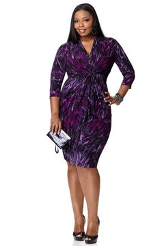 Miss Tina By Tina Knowles Walmart collection purple dress plus-size