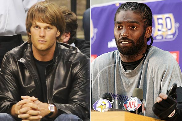 Tom Brady vs. Randy Moss hair battle