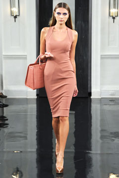 victoria beckham Spring 2011 runway pink dress matching bag