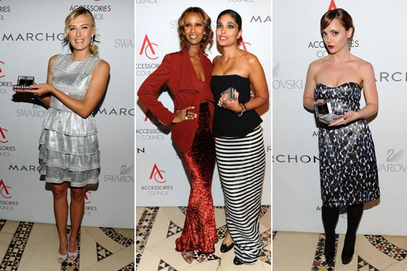 ace awards maria sharapova iman rachel roy christina ricci
