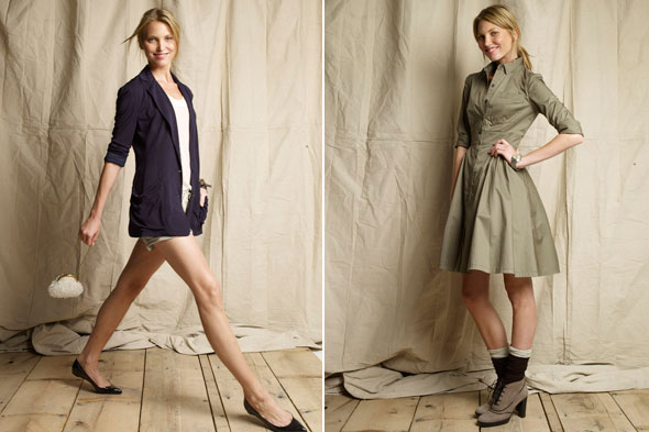 club monaco launching in london browns navy blazer shorts khaki shirtdress