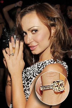 Karina Smirnoff giant engagement ring
