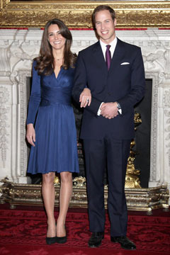 Kate Middleton Prince William engaged wedding April