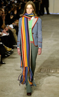 marc by marc jacobs rainbow scarf denim blazer
