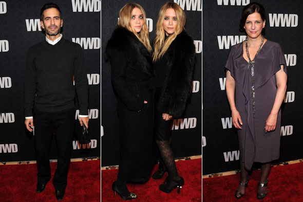 Marc Jacobs Mary-Kate Ashley Olsen Bridget Foley WWD 100th Anniversary All-Star party
