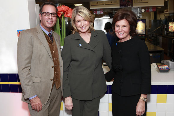 Harry Slatkin, Martha Stewart and Laura Slatkin