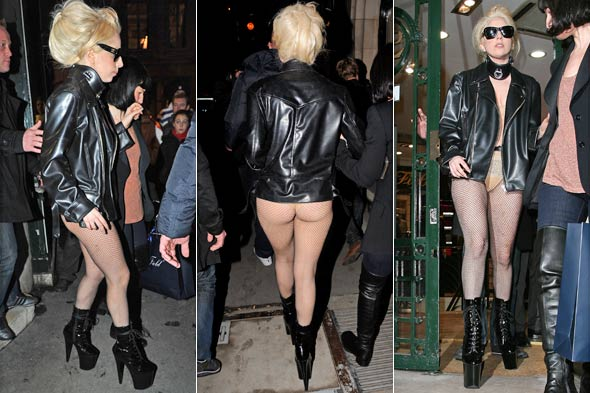 Lady Gaga Goes Pantless in Paris Men Wearing Scarves Paris