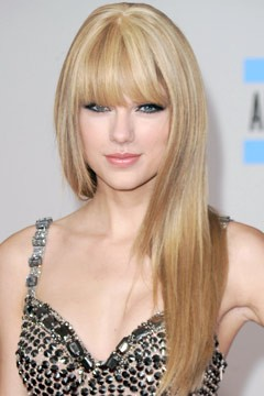 Taylor Swift Song List on Taylor Swift Bangs Straight Hair American Music Awards 2010 240 Jpg