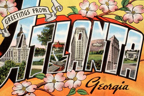 Atlanta Georgia postcard