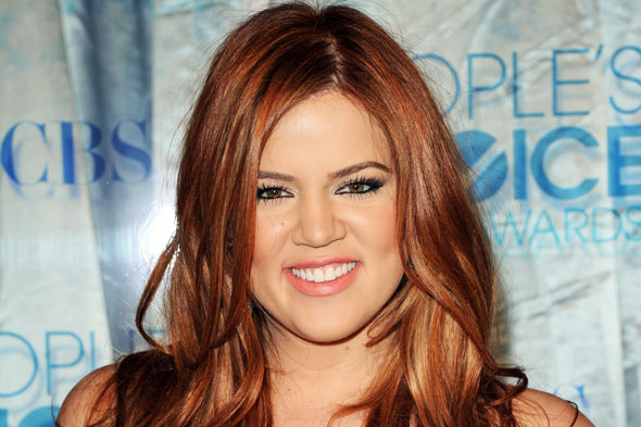 Khloe Kardashian Red Hair Peoples Choice Awards 2011