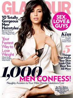 Kim Kardashian Glamour February 2011