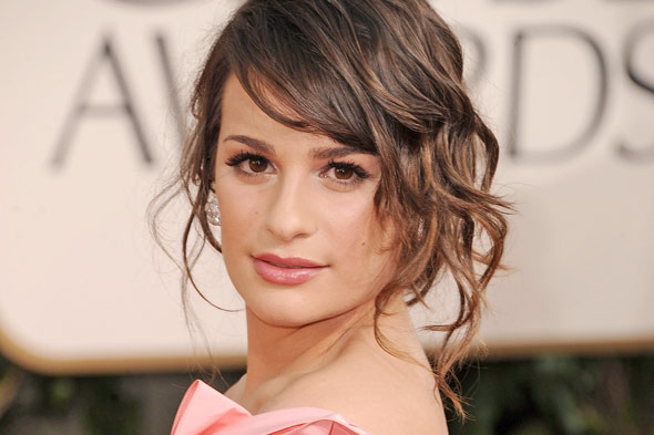 Lea Michele 2011 Golden Globe Awards
