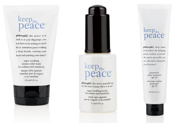 Philosophy Keep the Peace Super Soothing Instant Relief Mask, Serum and Protective Color Corrector SPF 20