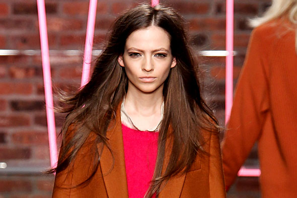 Hair and makeup at DKNY Fall 2011