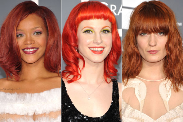Rihanna Hayley Williams Florence Welch 2011 Grammy Awards