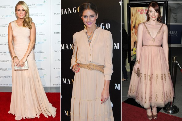 carrie underwood olivia palermo bryce dallas howard nude blush dress