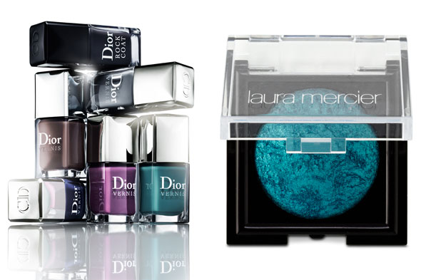 Dior Vernis Rock Top Coat Nail Polishes and Laura Mercier Baked Eye Color