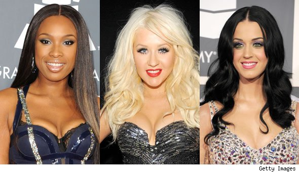 Cleavage Jennifer Hudson Christina Aguilera Katy Perry