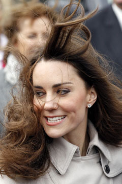 Kate Middleton windy hair weatherproof your hair