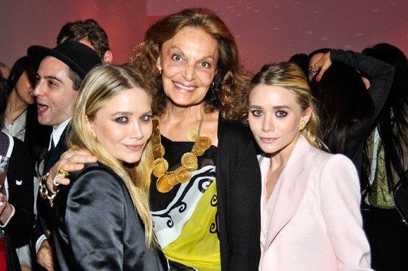 mary kate ashley olsen diane von furstenberg dvf cfda awards nominations 2011