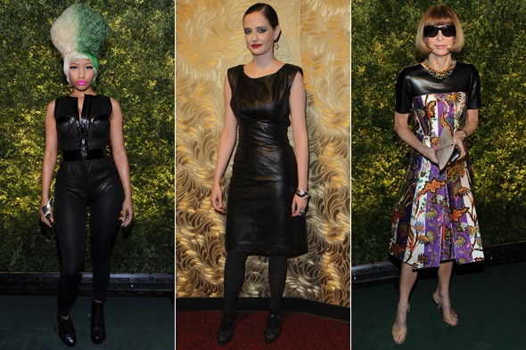 nicki minaj eva green anna wintour leather