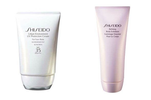 Shiseido Urban Environment UV Protection Cream and Refining Body Exfoliator