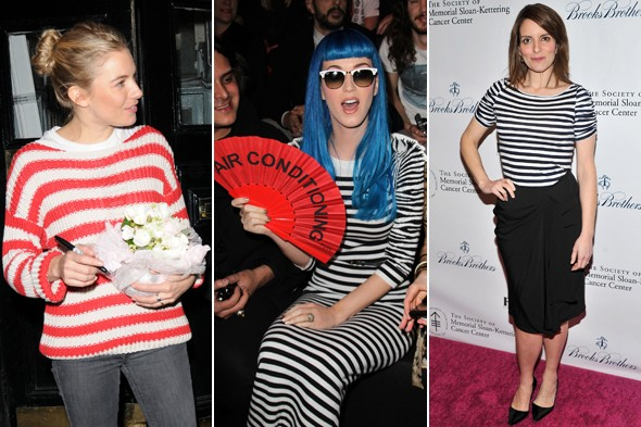 sienna miller katy perry tina fey sailor stripes blue white red stripped striped