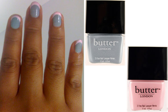 French manicure in butter LONDON Lady Muck and Teddy Girl