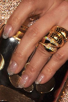 Jennifer Lopez's glitter French manicure