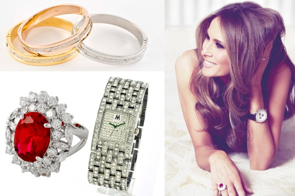 melania trump qvc april 25 jewelry collection diamonds wath cocktail ring bangle bracelts