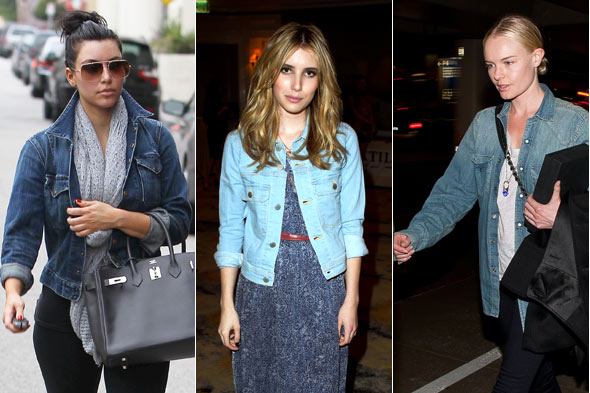 kim kardashian emma roberts kate bosworth jean denim jacket coat elizabeth and james