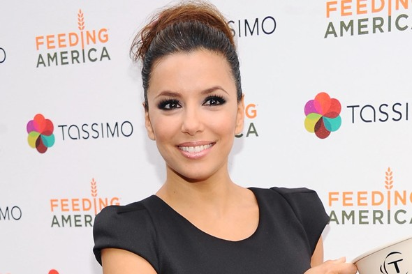 beauty look of the day eva longoria bun hair