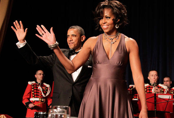 Michelle Obama's State Dinner Dress By Naeem Khan (PHOTOS, POLL