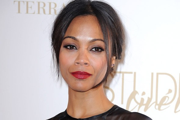 Zoe Saldana Celebrity Beauty Look of the Day