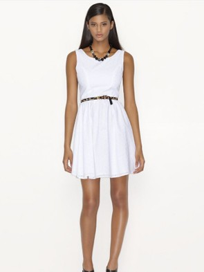 white dress macy's highlight tan sale bargain cheap dress