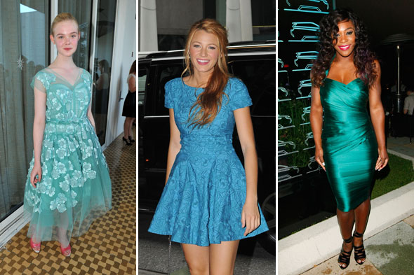 elle fanning blake lively serena williams celebrity look of the week mermaid dresses