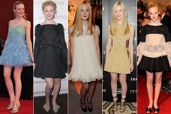 elle fanning red carpet rodarte marc jacobs valentino marchesa