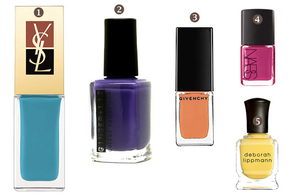 rachel zoe bright color nail polish spring 2011