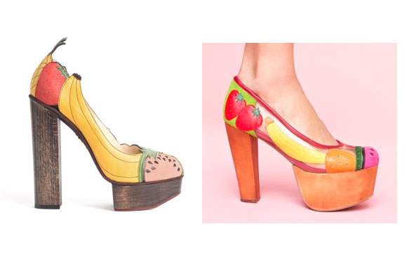 fruit shoes charlotte olympia jeffrey campbell