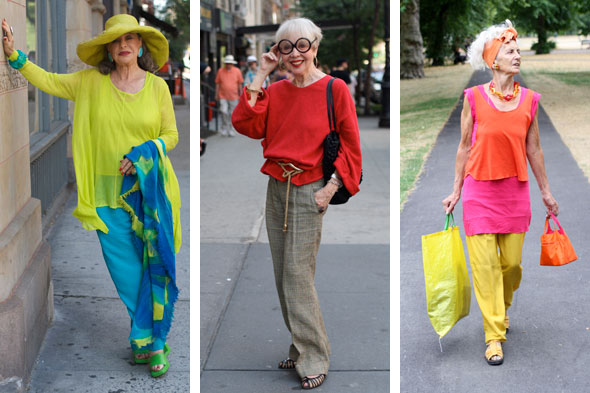 Advanced Style; Ari Seth Cohen; fashionable old ladies; fashionable older women; 