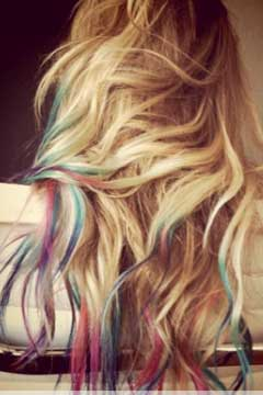 lauren conrad dip dye hair tie dye beauty news