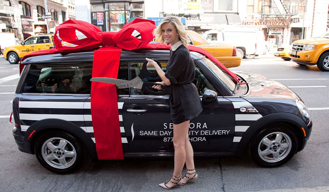 Brooklyn Decker Sephora Same Day Delivery Service Mini Cooper