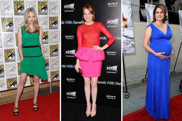 celebrity look of the week jenna fischer amanda seyfried emma stone