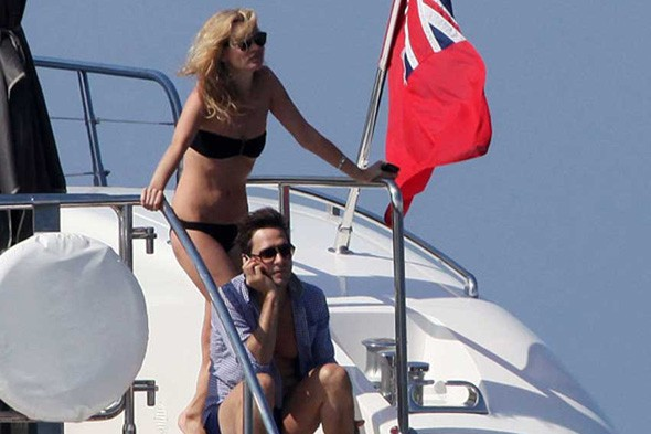Kate Moss and Jamie Hince on their honeymoon yacht bikini bathing suit
