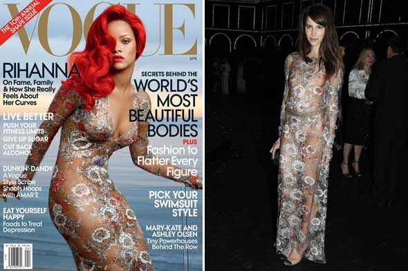 rihanna caroline sieber chanel who wore it best