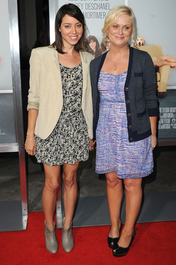 Aubrey Plaza and Amy Poehler our idiot brother premiere