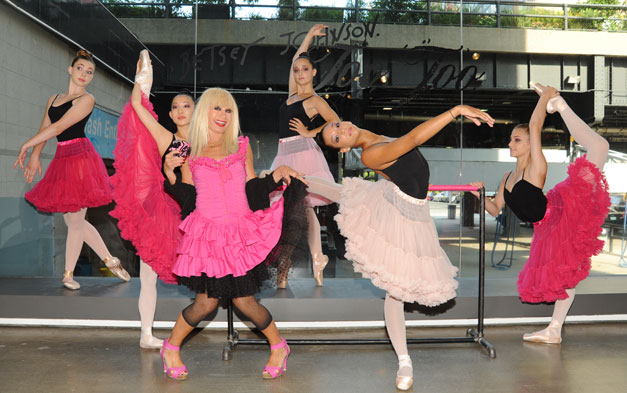 Betsey Johnson Bolshoi Ballet Academy dancers