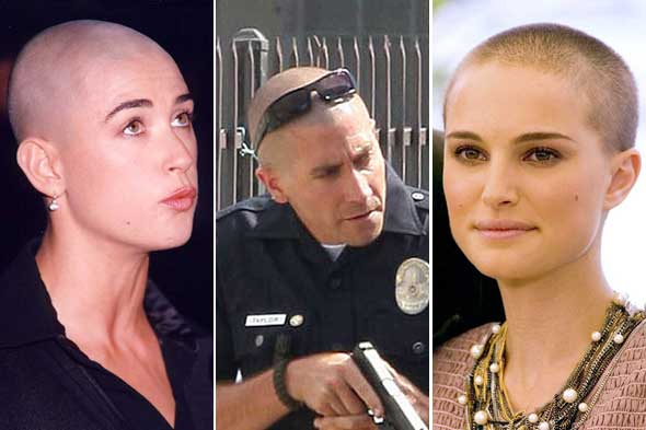 natalie portman demi moore jake gyllenhaal shaved head bald