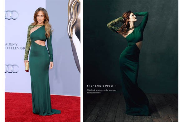 drew barrymore pucci jennifer lopez green gown