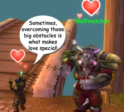 love overcomes obstacles, even between leper gnomes and taurens